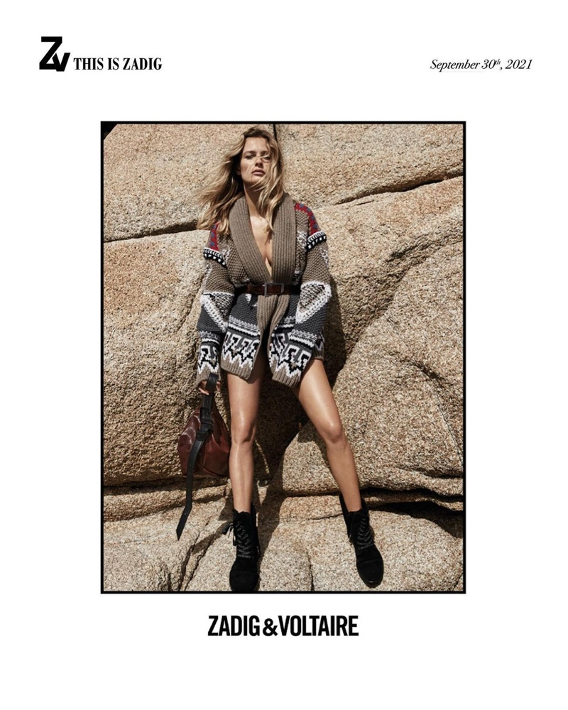 An image from Zadig & Voltaire's fall 2021 advertising campaign.