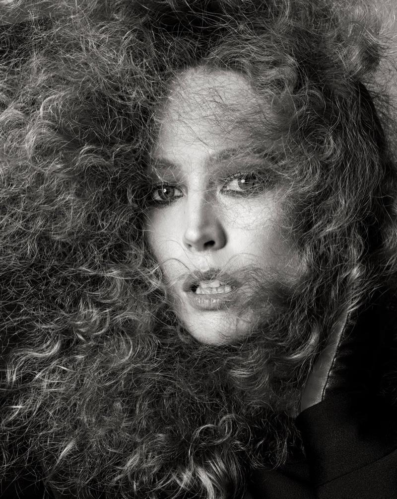 Raquel Zimmermann stars in Zara Studio fall-winter 2021 campaign.