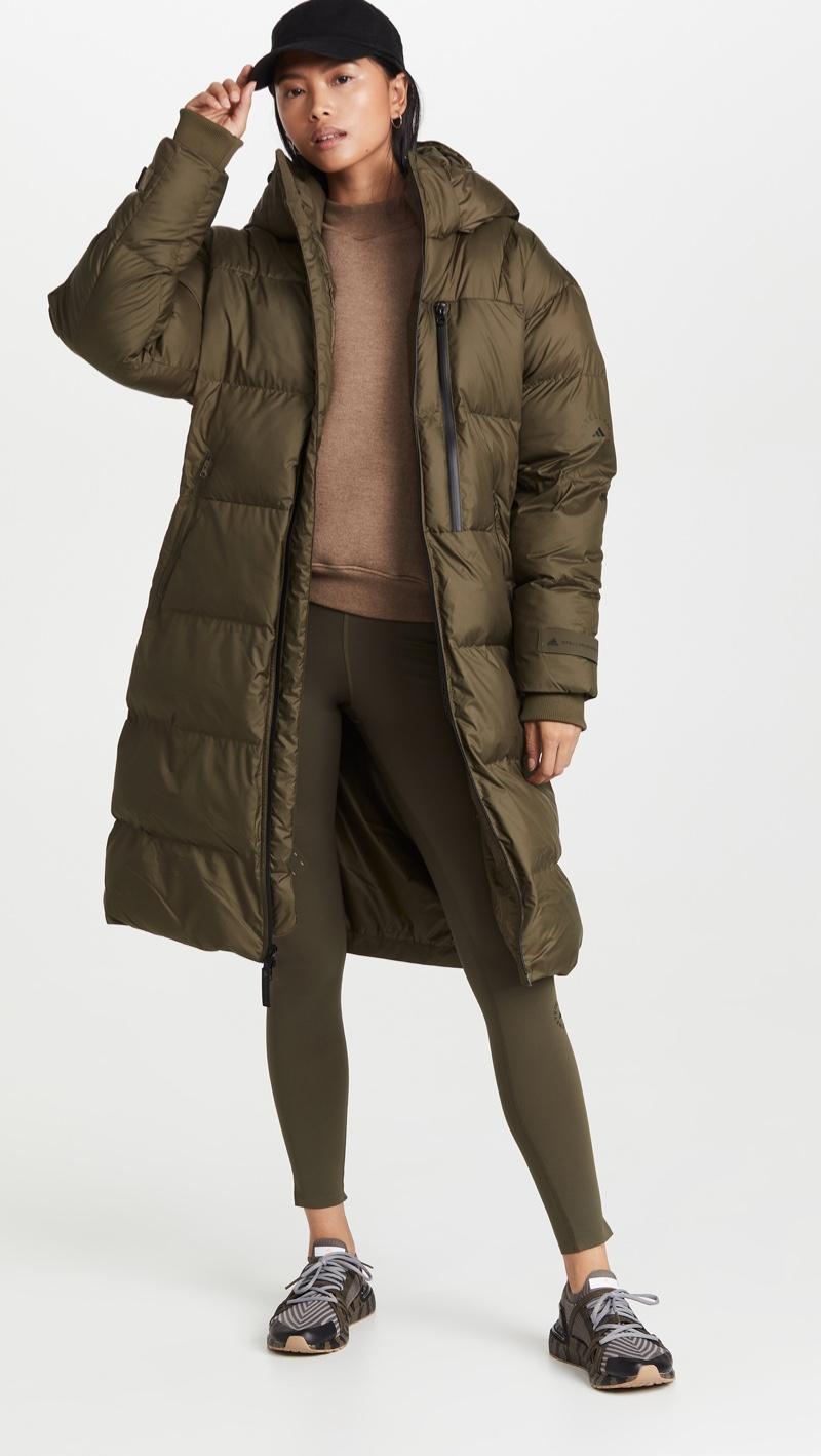 adidas by Stella McCartney Long Puffer Jacket $400