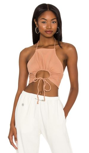 h:ours Shauna Crop Top in Nude. - size S (also in L, M, XL, XS, XXS)